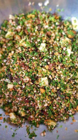 salade kale sarrasin